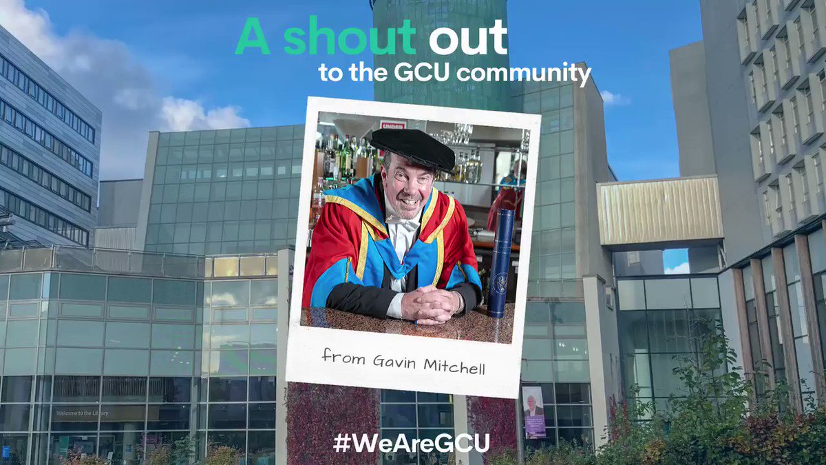 📽️| @GavsterNo1, star of Still Game and an honorary graduate of GCU, gives a shout out and thank you to all #GCU students, staff and alumni currently working for the NHS. #ThankYouGCUNurses #IND2020
