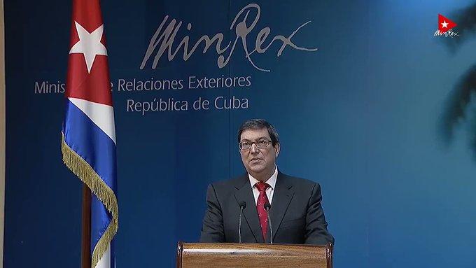 Kuba Ausßenminister gibt USA Mitschuld an Botschaftsangriff | Bildquelle: https://twitter.com/BrunoRguezP/status/1260303487067394048 © MinRex / Twitter | Bilder sind in der Regel urheberrechtlich geschützt