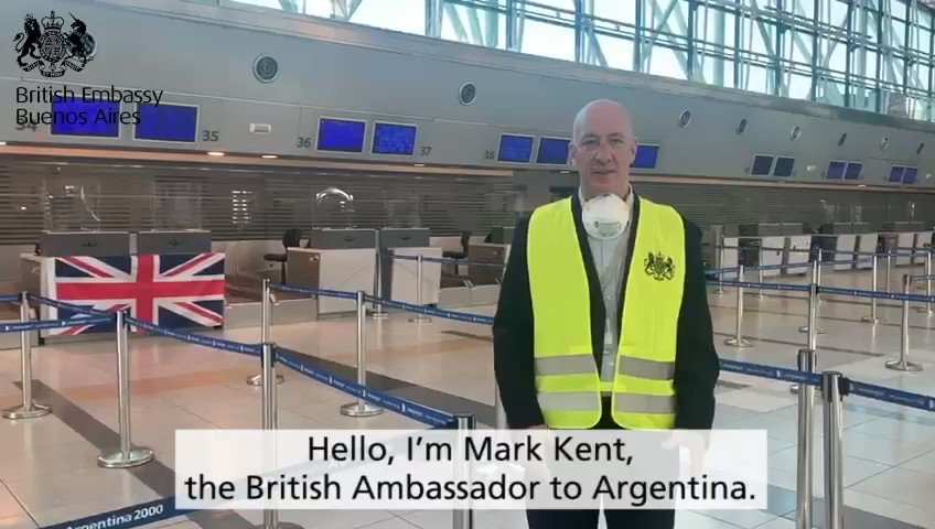 The second UK chartered flight from Argentina 🇦🇷 has just left taking 168 British nationals and direct dependants home 🇬🇧  Thank you to @British_Airways and the Argentine authorities for helping us ensure British travellers could return home. https://t.co/Wmy3XTyKTv