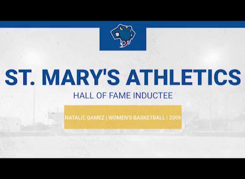 Our next 2020 St. Marys Athletic Hall of Fame Inductee ⤵️ 🏀Natalie Gamez ✅All-American ✅Heartland Conference Player of the Year ✅3x All-Heartland Selection Join us in congratulating Natalie on her induction into the St. Marys Athletics Hall of Fame!