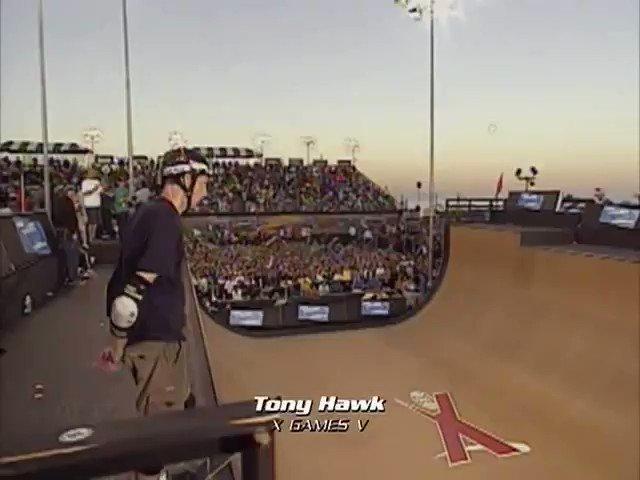 When I saw him accomplish that trick I cried with emotion, very happy birthday to Tony Hawk