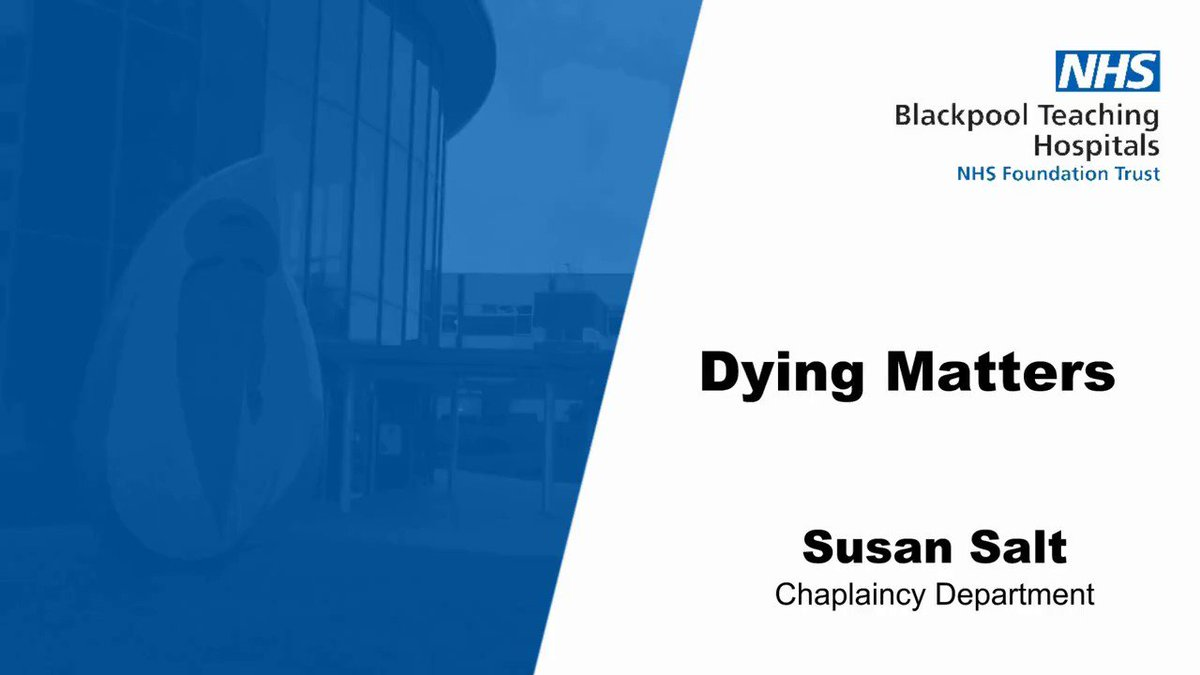 Susan Salt explains more about the #DyingMatters campaign and for us to take moments to pause and reflect...