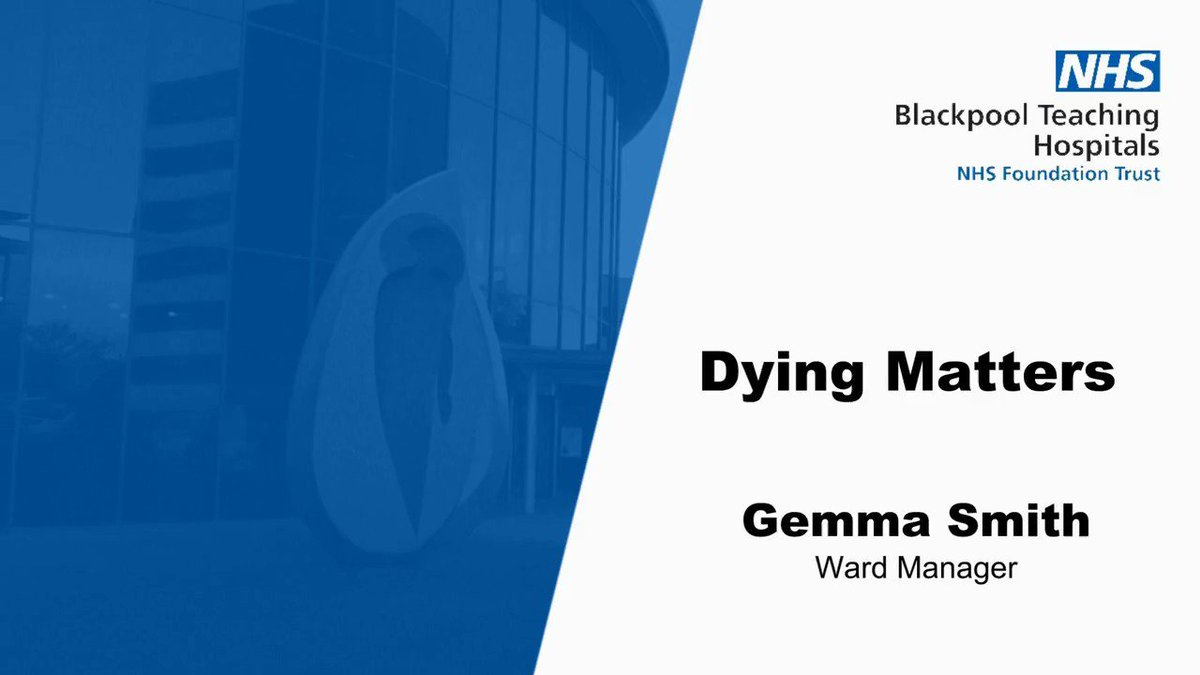 Ward 26 manager, Gemma Smith, has recorded a message for #DyingMatters week to reassure us what her team is doing. to support patients and their families.