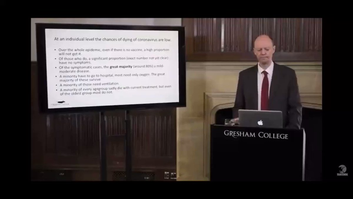 WATCH   CMO Professor Whitty bursts the media hysteria around coronavirus - Even without a vaccine, a high proportion of people will not get it - A significant proportion of those who get it will have no symptoms - The vast majority of people with symptoms have only mild illness