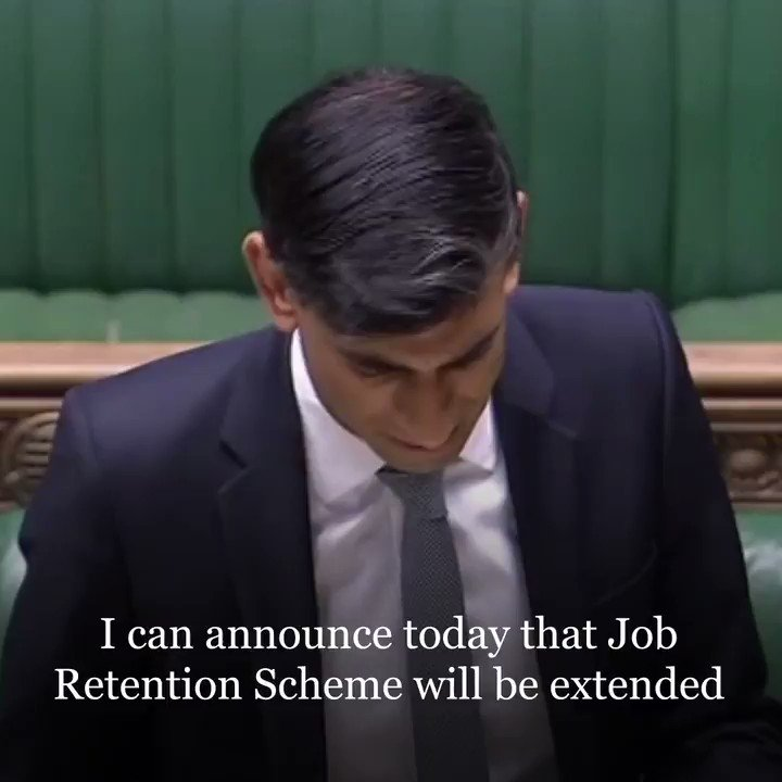 📣 ANNOUNCED THIS WEEK: The furloughing scheme will be extended until the end of October to support Britains workers and businesses. 👇👇👇 Make sure you watch Chancellor @RishiSunak explain why