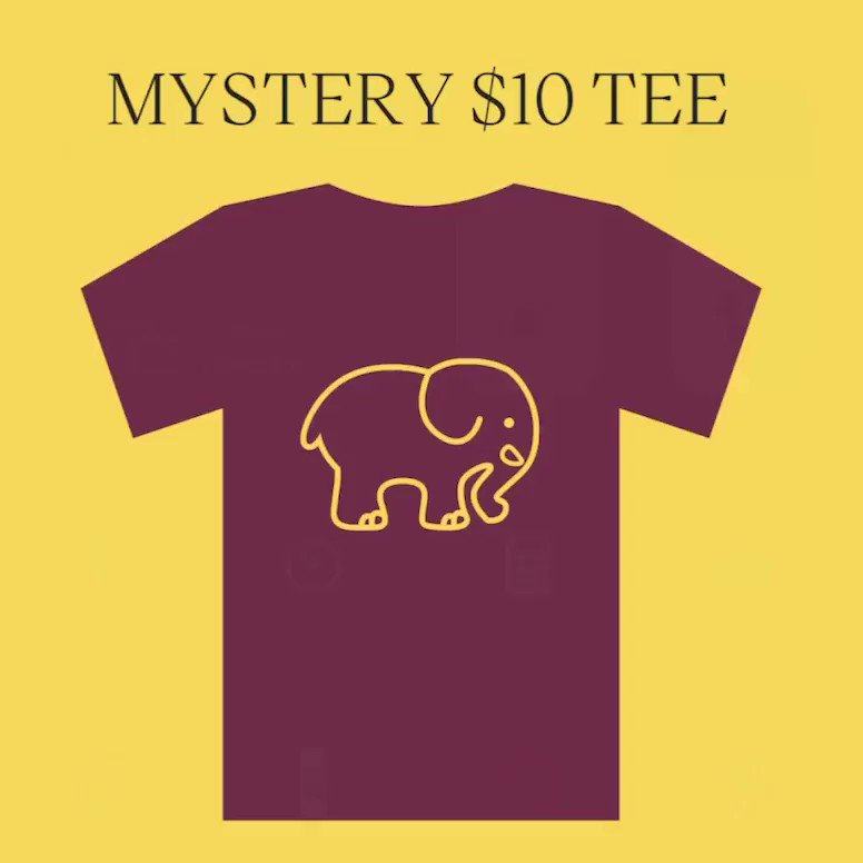 $10 Mystery Tees are live ✨Only while supplies last! If you signed up for our text alerts you found out first 🐘😉#SaveTheElephants #IEforME ivoryella.com/products/10-my…