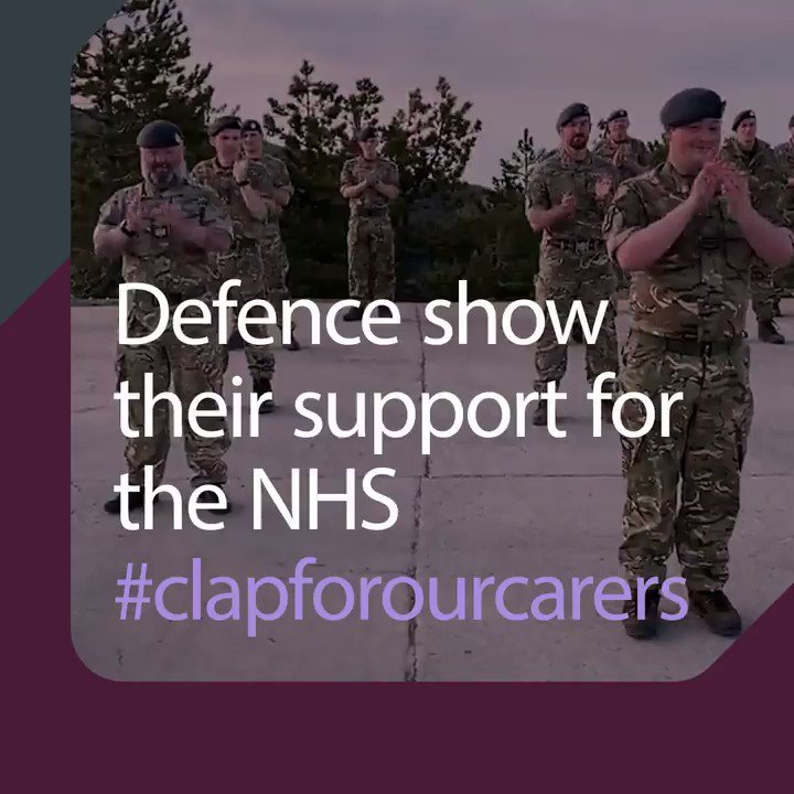 🇬🇧Armed Forces personnel, both in the UK and deployed on operations abroad, join the nation to #clapforourcarers. 🌈👏 #Inthistogether