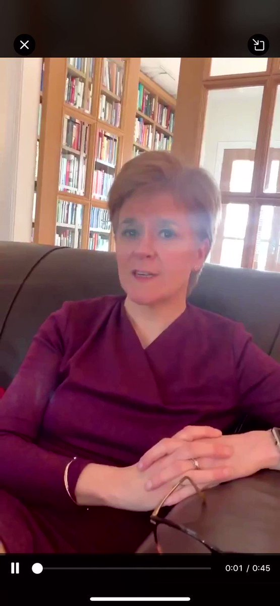 """Here's @NicolaSturgeon answering my niece who was wondering """"why her friends couldn't come to her birthday party"""" I'll post her video below! Thank you Nicola"""