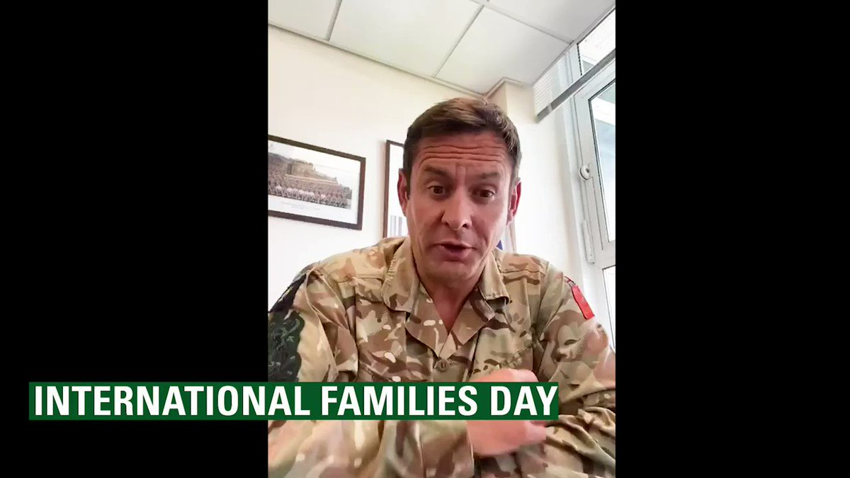 Today is the @UN International Families Day, some of our serving personnel have taken this moment to thank their families and describe what family means to them. #DayofFamilies