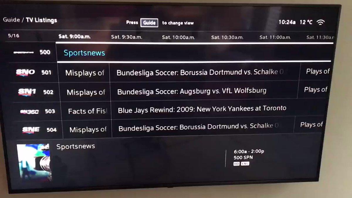 Bundesliga. 24 hours away. Sportsnet.