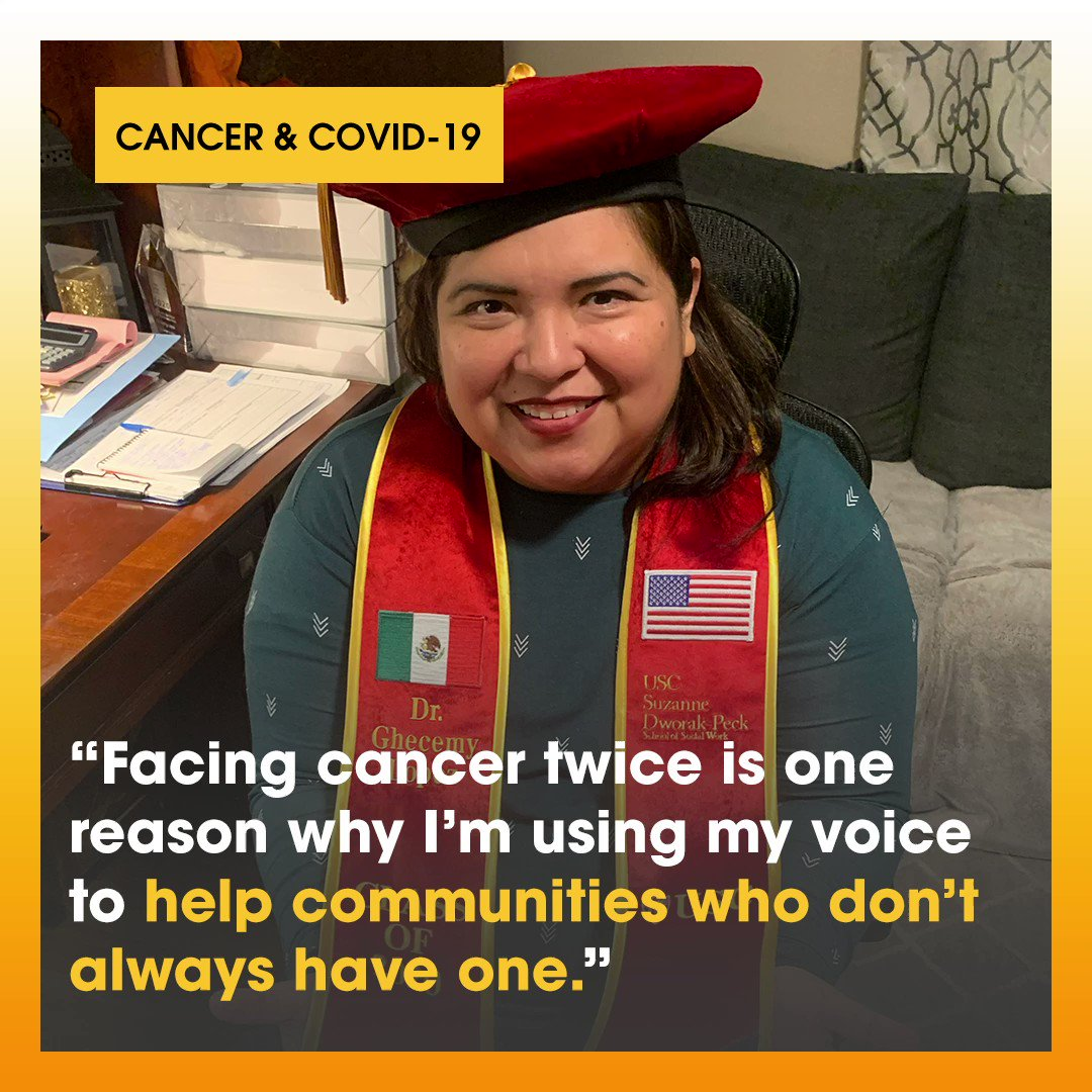 Ghecemy Lopez shares how facing cancer inspired her to use her voice to help others in her community. Today, she celebrates a huge milestone as she receives her doctoral degree in her work to help close the health gap in cancer research and care! #StandUpToCancer