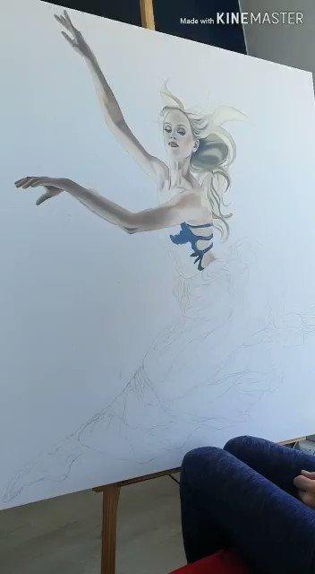A glimpse of my latest piece :)
