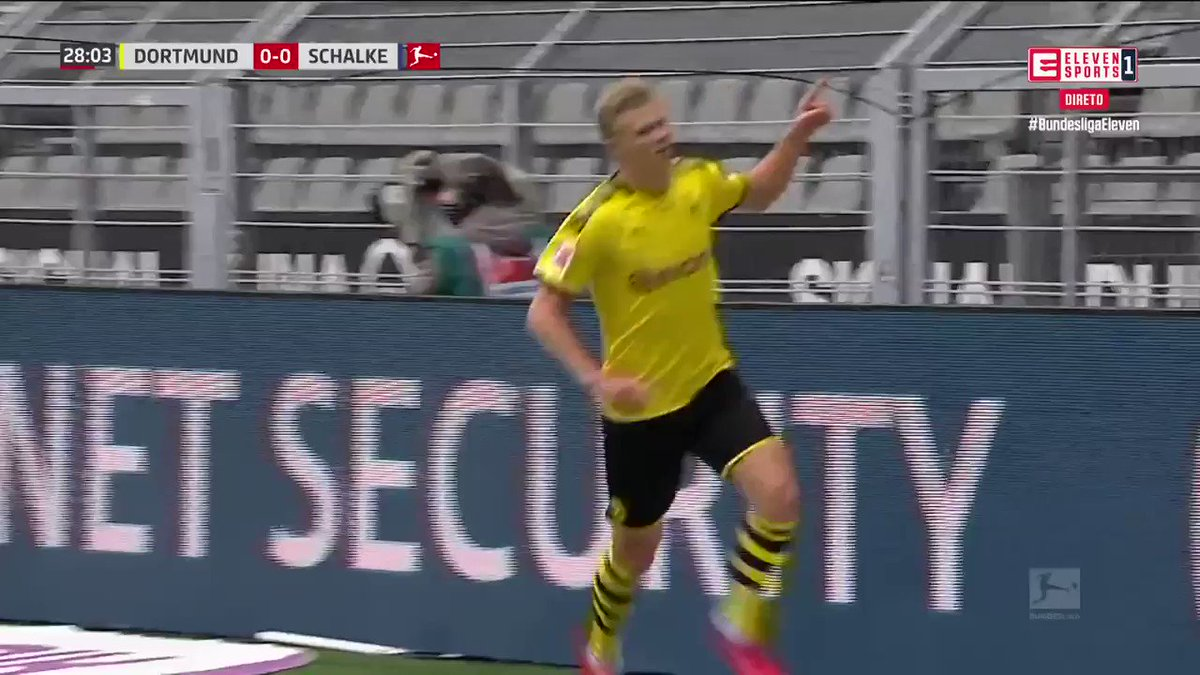 Com ou sem pandemia, Haaland só sabe marcar golos e inaugura o marcador frente ao Schalke!