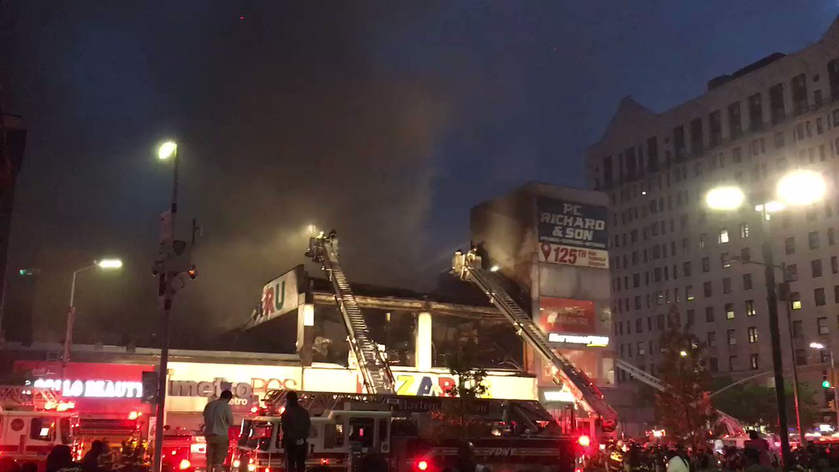 FDNY members are operating on scene of a 3-alarm fire at 158 West 125th Street in Manhattan.