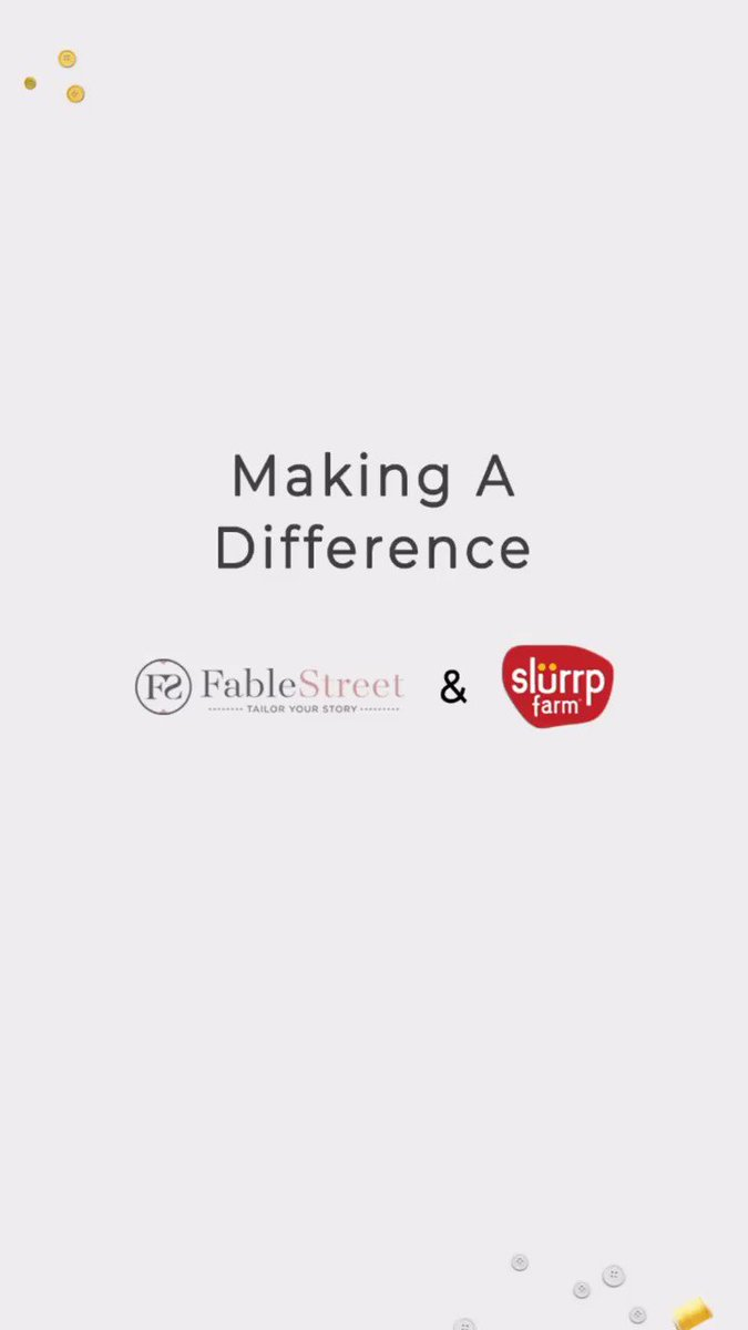 @FableStreet  & @SlurrpFarm : Making A Difference  a collaborative effort where we bring you stories of brands that are Indian in design & essence, and those that bring a uniqueness to the local community. #vocalforlocal #shoplocal #madeinindia  #FableStreet #slurrpfarm