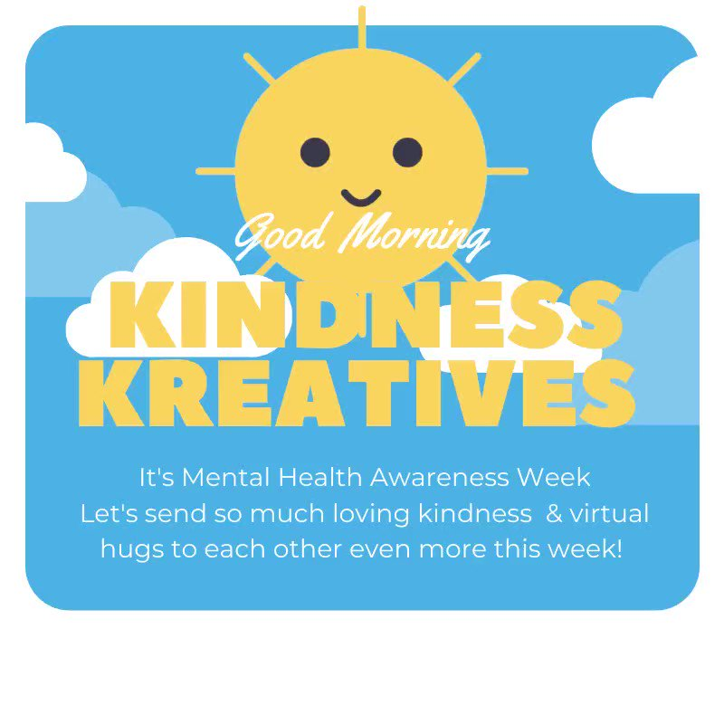 🧠M E N T A L H E A L T H A W A R E N E S S W E E K🧠 💛K I N D N E S S💛 Z has a few wee #kreativekindness gifts I am going to be working on for u all my stars 🧚♀️ We at @music_feelz FEELS it should be #MentalHealthAwarenessWeek EVERYDAY @Keithejones & ALL 🌞