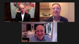 Hoje, em conversa com o ex-presidente do Banco Central, Ilan Goldfajn, e com o CEO do Credit Suisse no