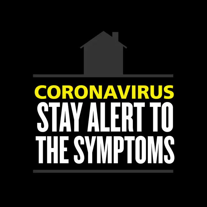 You should self-isolate if you develop: ▶️ a new continuous cough OR ▶️ high temperature OR ▶️ loss/change in your normal sense of smell or taste No one in your household should leave home if any one person has symptoms. nhs.uk/coronavirus