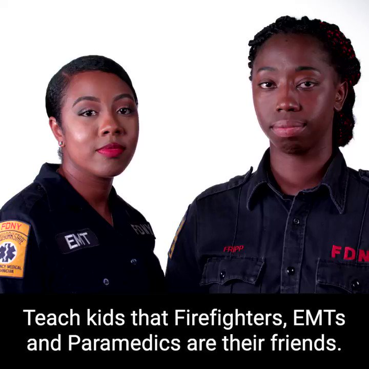 Teach kids to trust first responders with these #FDNYSmart tips. Stay connected with us at fdnysmart.org/connect