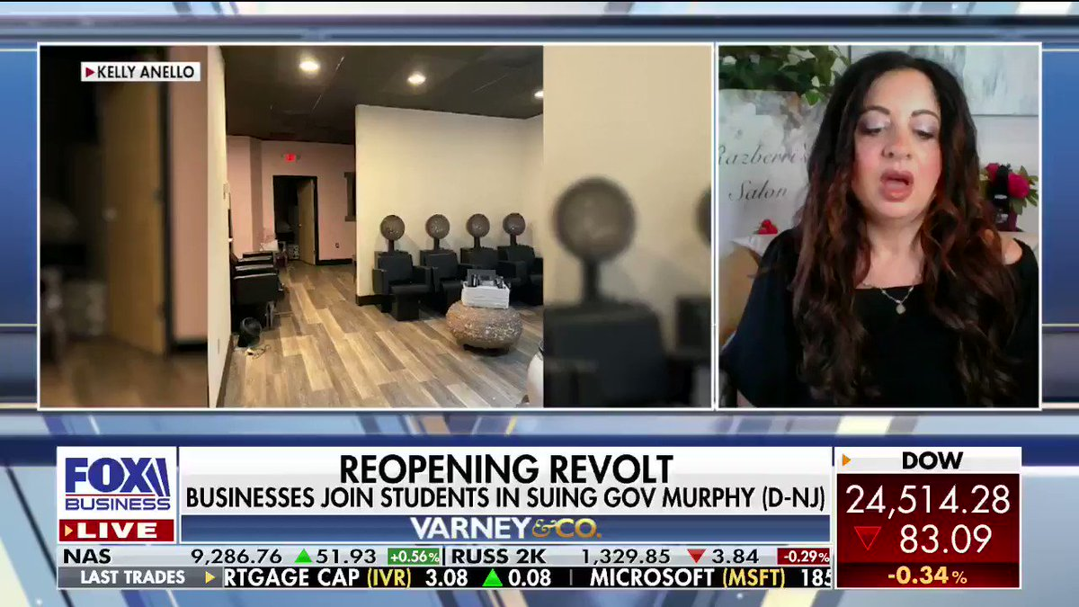 Kelly Anello, owner of Razberri's Hair and Nail Salon in New Jersey, is suing Governor Phil Murphy over her right to operate her business amid the pandemic. She says the state government is trampling on her rights! #NJ #Coronavirus #Nails #Hair #VarneyCopic.twitter.com/uhRxDSwabv