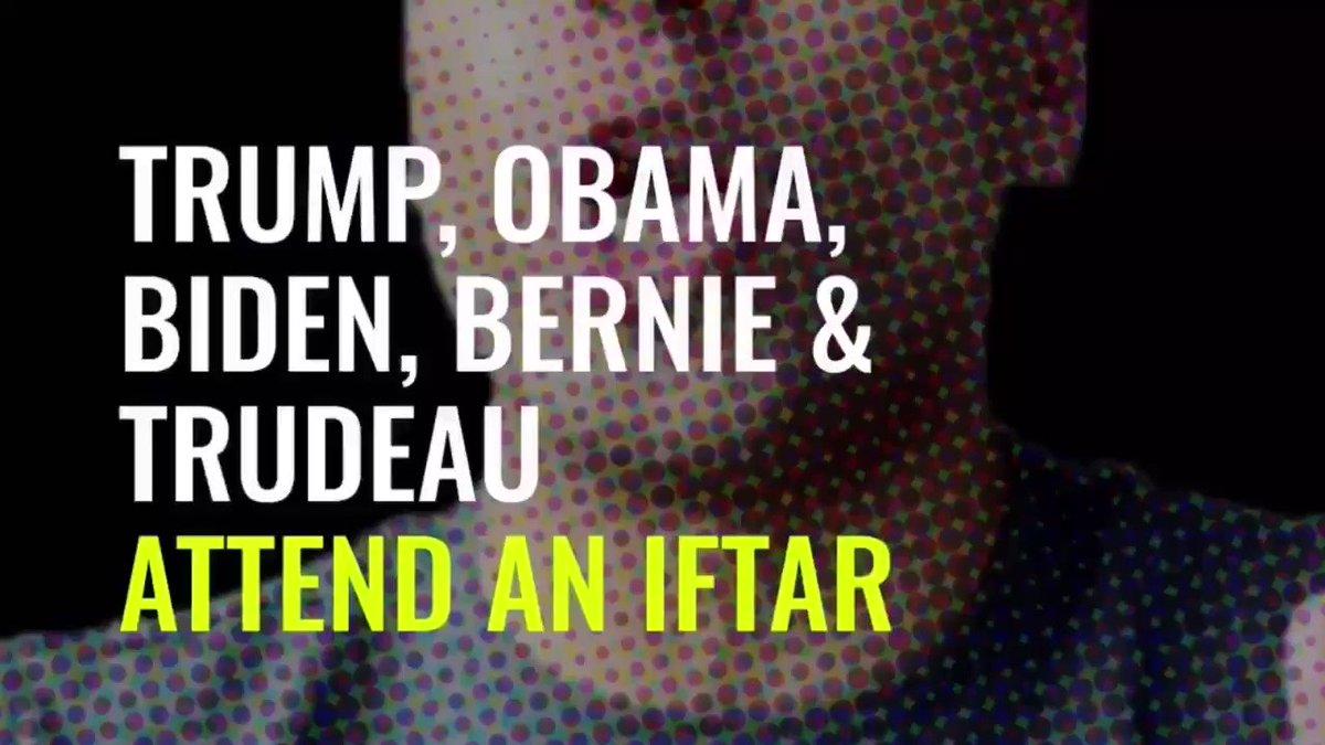 "This is just brilliant! #Iftar seen through their eyes. RT @Joyce_Karam: Brilliant: Trump, Obama, Bernie and Trudeau try a #Ramadan fast. The Trump ""Sehri to Iftar"" is definitely something:"