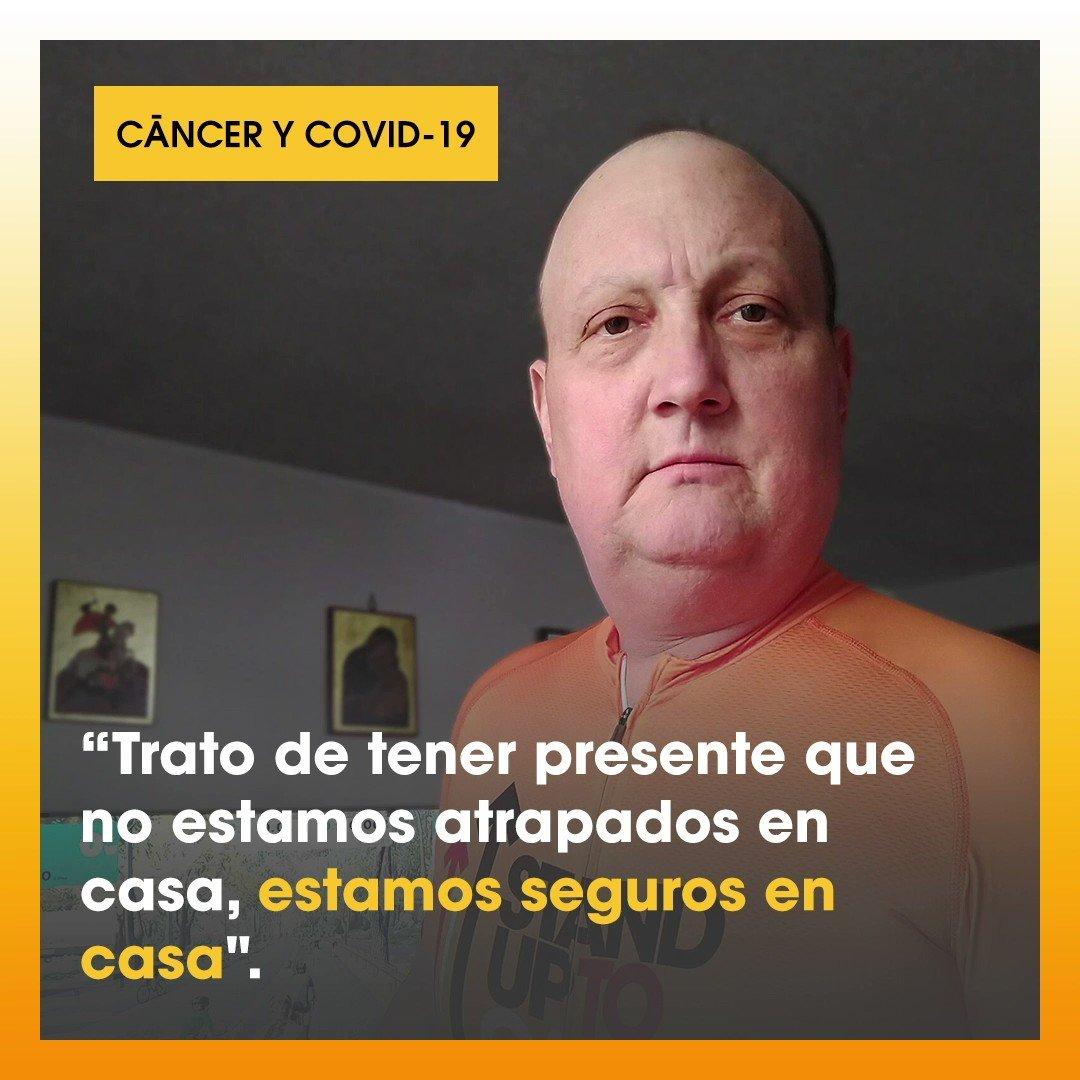 Dave Latham, empleado de #UnidosContraElCáncer, comparte cómo ha sido para él hacer frente al cáncer en medio del #COVID19.