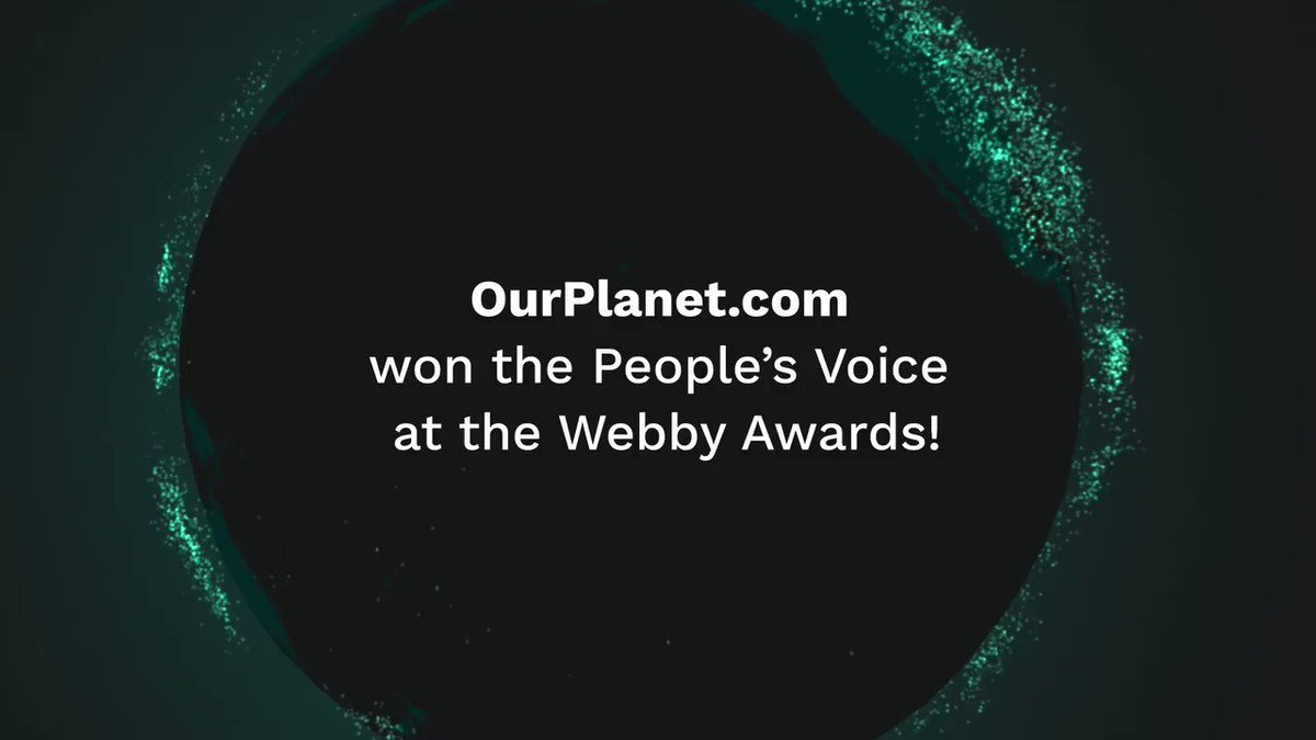 Proud and honored by the news that https://t.co/nJrx4uqbwZ - the digital experience connected to the Emmy-awarded nature series @ourplanet - won a People's Voice at @TheWebbyAwards. A thousand times thank you and congratulations to the incredible teams at @WWF and Silverback. https://t.co/YQYQm78CiB