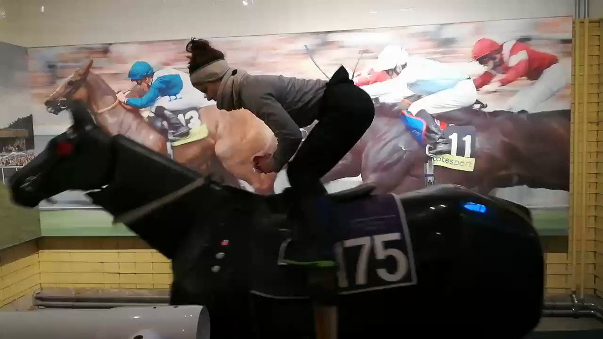 @NCWSkillsDays at @palacehouse_nkt with Frank Conlon! This is my skill, I used to do ballet for many years, then I left it and make it useful for my new dream. @jockeytraining @BRSNewmarket   #MySkills Balance on simulator  https://twitter.com/boni_gaia/status/1263078990044168193/video/1…pic.twitter.com/Nzg5OiECZu