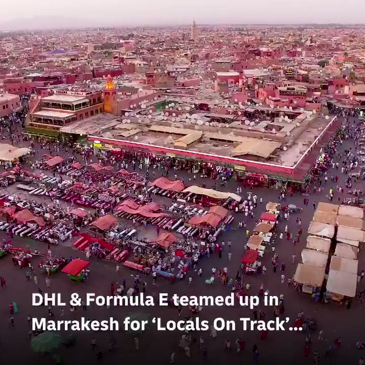 #TBT to the Marrakesh E-Prix where we teamed up with @FIAFormulaE to grant special access to the track for 150 fans travelling on sustainable transport! 🚴   #LocalsOnTrack #TheRaceForCleanAir #MomentsThatDeliver https://t.co/caOZSV3sXR