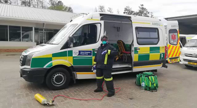 #HealthcareHeroes A message from rescue technician Anina Nortier-Balie, a member of the EMS in Vredendal in the Western Cape.