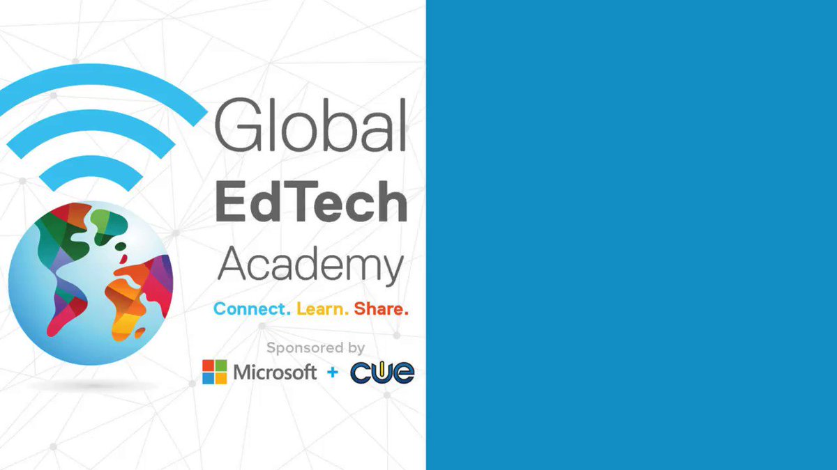 Ready for FREE PD?! Todays Global EdTech Academy (#GETA) schedule features @naomiharm @HollyClarkEdu @jmattmiller and @alicekeeler and #MicrosoftEDU office hours with @julener. ->cue.org/microsoft<- #GETA #WeAreCUE #CaEdchat #ACSA #CALSA #CaSupts #edchat #edtech #MACUL