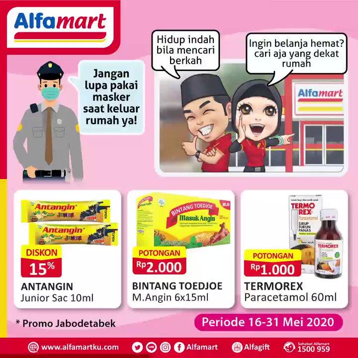 Jelang hari nan fitri tetap jaga kesehatan ya dan tingkatkan terus Imunitas Tubuh dengan konsumsi produk kesehatan berikut ini yang tersedia di #Alfamart terdekat . . Periode s.d 31 Mei 2020 #AlfamartMelayaniIndonesia #AlfamartTerdekatAja #RamadhanDirumahAja #AlfamartPenuhRahmatpic.twitter.com/DCg1ty2MQ9