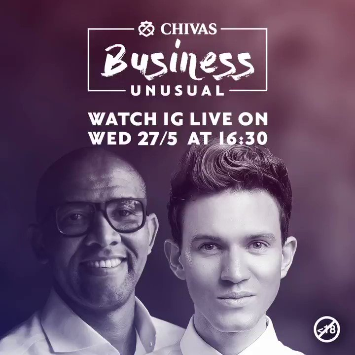 This week on Chivas Regal #BusinessUnusual @andile_khumalo will be catching up with one of SA's most loved and admired fashion designers, @gertjohan #SuccessIsABlend #Chivas Ts & Cs apply.