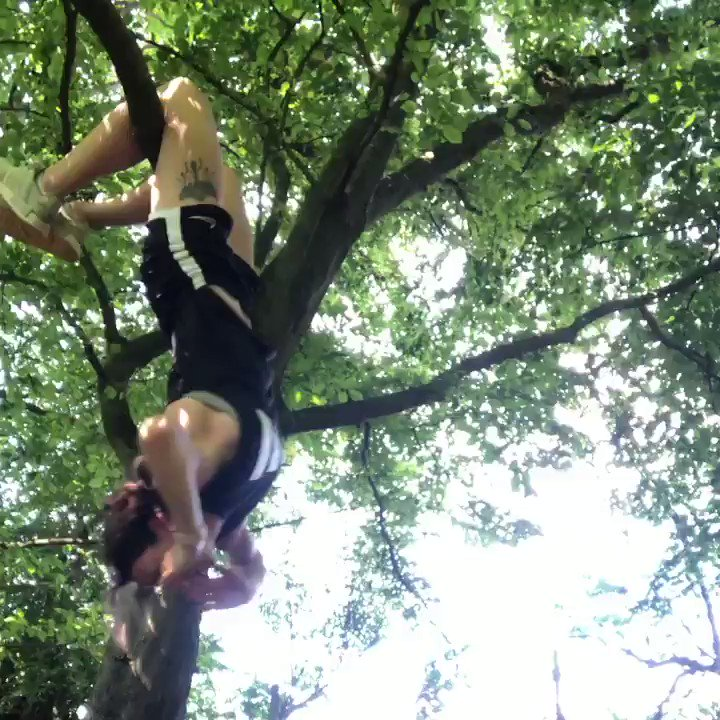 Play time #hangingcrunches #upsidedown #hangingout #lockdown #outdoors #fitness
