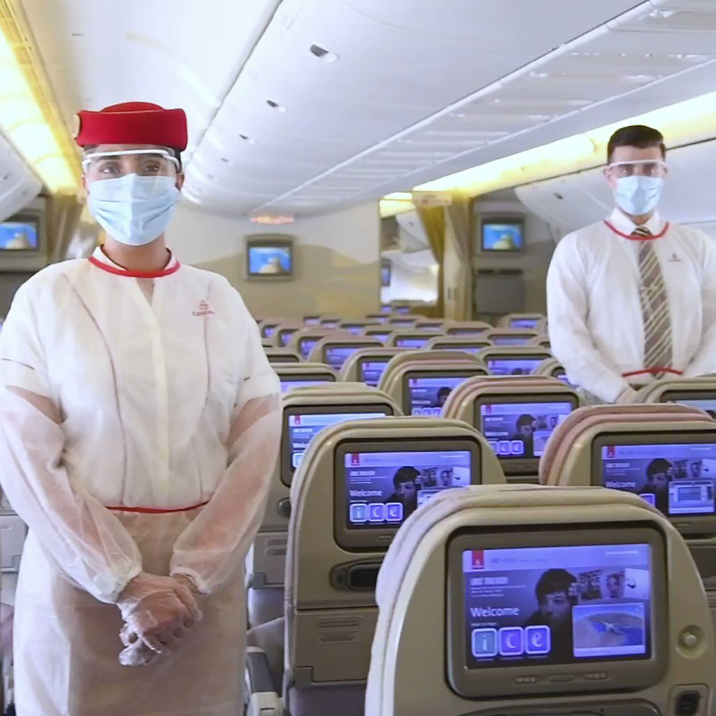 Emirates sets an industry-leading hygiene and safety standard for customers and employees at every step of the travel journey. bit.ly/2LO7R1U #FlyEmiratesFlyBetter #COVID19 #Travel