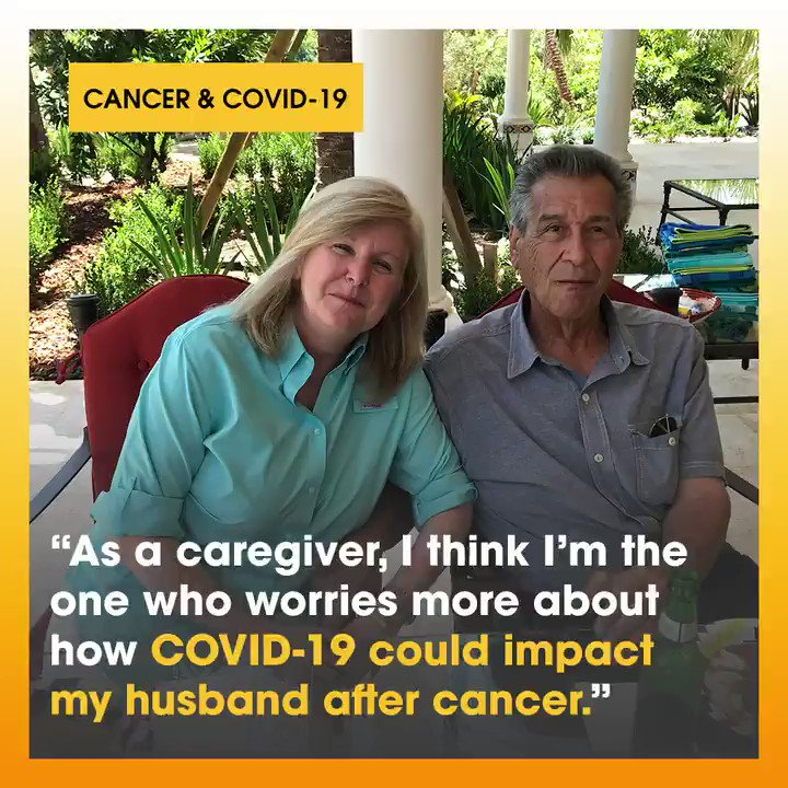 Catherine Mazzullo shares the concerns she's facing as a caregiver to her husband Dominic, a stage 4 cancer survivor, during the #COVID19 pandemic. #StandUpToCancer