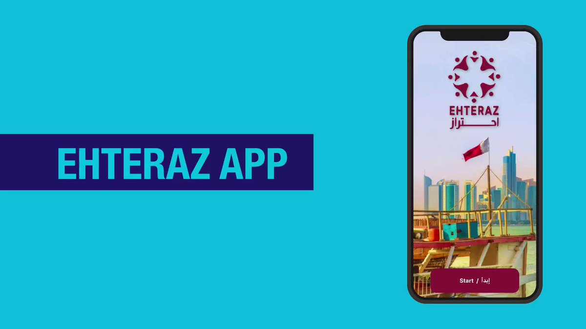 "مكتب الاتصال الحكومي on Twitter: ""Starting tomorrow, installing Ehteraz app  on your smartphone is mandatory for everyone when leaving the house for any  reason as a precautionary measure to limit the spread"