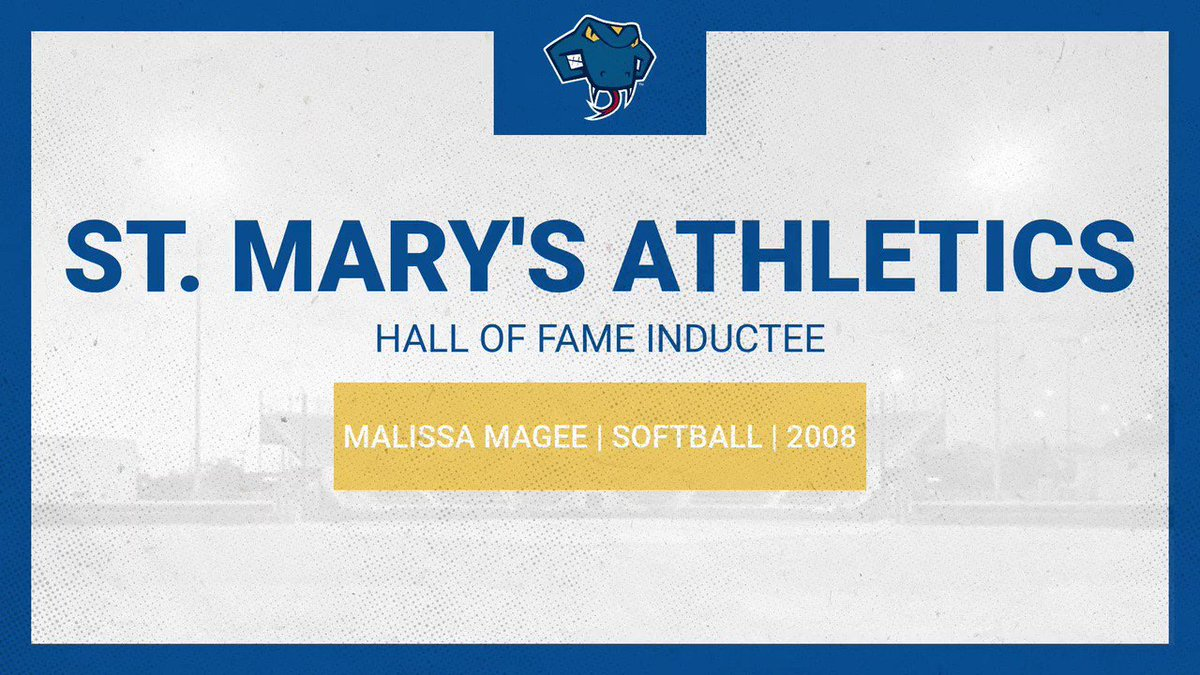 Our next 2020 St. Marys Athletic Hall of Fame Inductee ⤵️ Malissa Magee (@StMUsoftball) ✅ 3x All-American ✅ 4x Conference Pitcher of the Year ✅ Heartland Conference Hall of Fame Join us in congratulating Malissa on her induction into the St. Marys Athletics Hall of Fame!