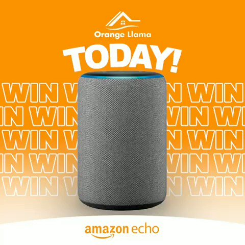 Boom  Todays the day we give away an Amazon Echo to a lucky winner!!  It's not too late to get involved!  Like and Share guys   #Orange #Llama #NewNormal #NewHome #NewProject #Wales #Buildingpic.twitter.com/Z95941pB0m
