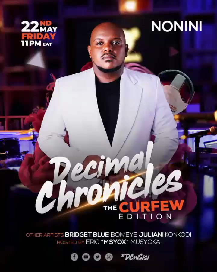 Leo ndio ile day #NiFurahiday #DecimalChronicles Live Tonight 11pm EAT on YouTube #DcNiSisi #CurfewEdition #CrazyLineUp⠀ ⠀ Tag someone on the comments section #TeamWagengeTrue #TWT Legendary vibes Hosted by @ericmusyoka⠀ ⠀ ⠀