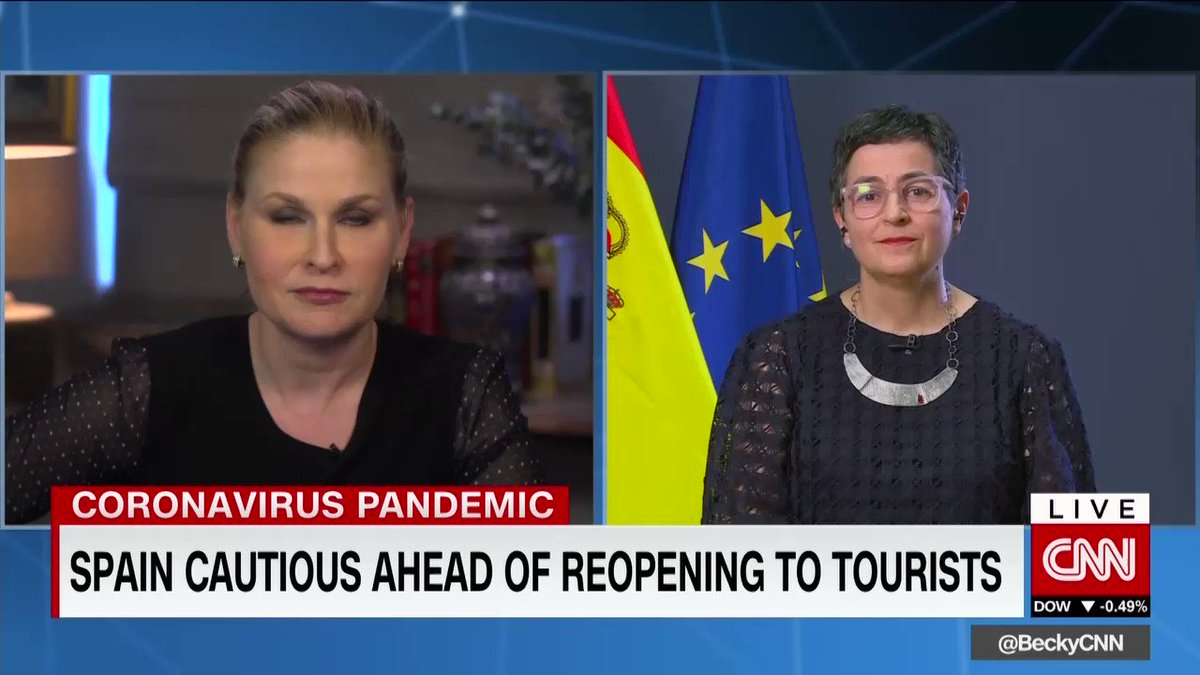 I spoke to @HalaGorani @cnn abt #Spain and #tourism    loves tourists & tourists love  Hope to welcome tourists soon in safety   #covid19  @SpainMFA @mincoturgob @GlobalSpainpic.twitter.com/GbrxwdhNnL
