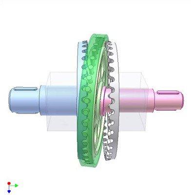 Wobbling Pin Gear Mechanism
