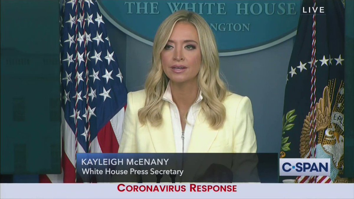 White House spox @kayleighmcenany is the personification of the dancing pallbearers meme.   In the coffin this week?  Almost every single White House correspondent 💀😂 https://t.co/VZLgrITz2L https://t.co/WTi19xEdRb