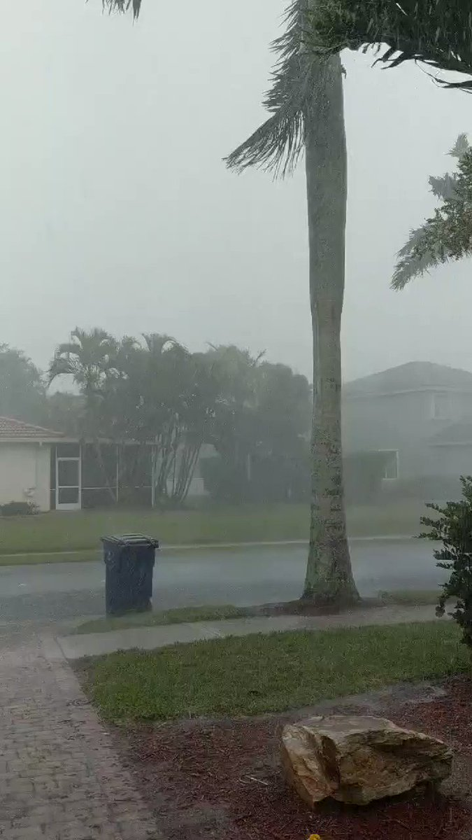 Came home from Costco and a random hurricane just started on my street in Fort Myers!