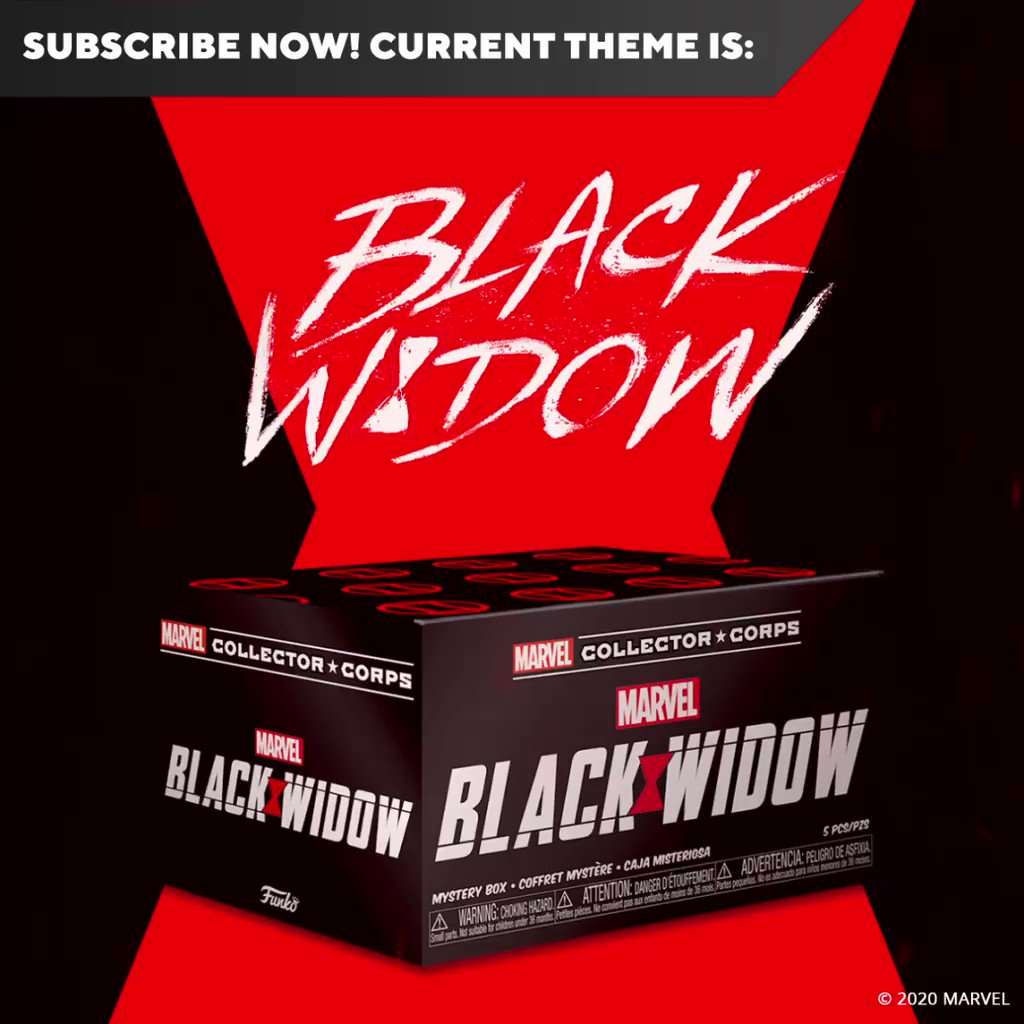The @Amazon exclusive Black Widow box from Marvel Collector Corps is now available! Place your subscription today! amzn.to/2Ztsite