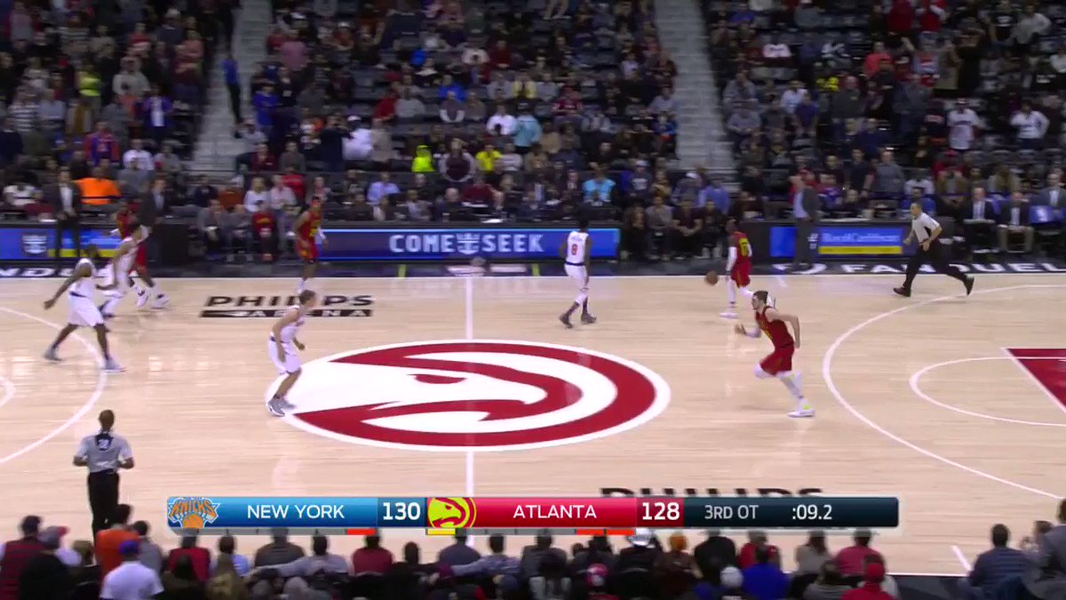 Just when they thought it was over...Dennis forces a FOURTH overtime! 👀  #HawksClassics https://t.co/dkn0VfGlIZ