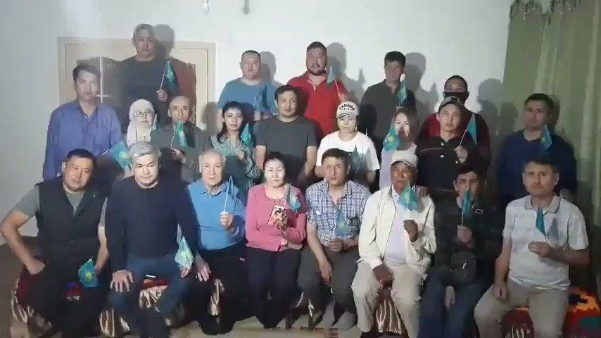 Civil activists from #Almaty #Kazakhstan express their support to wife of civil activist Dulat Agadil, Gulnara #Kasymkhanova.pic.twitter.com/Umc0RCxhq5