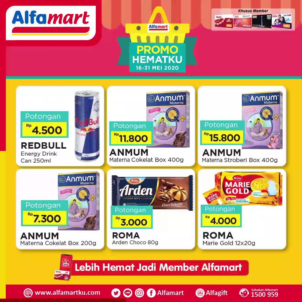 Saat #StayAtHome jangan lupa untuk penuhi kebutuhan mu dengan dapatkan promo Hematku berikut ini dengan harga SUPER SPESIAL yang masih setia hadir di #Alfamart dekat rumah aja . Periode 16 - 31 Mei 2020 . . #AlfamartMelayaniIndonesia #AlfamartTerdekatAja #AlfamartPenuhRahmatpic.twitter.com/Ed1MYR12z7