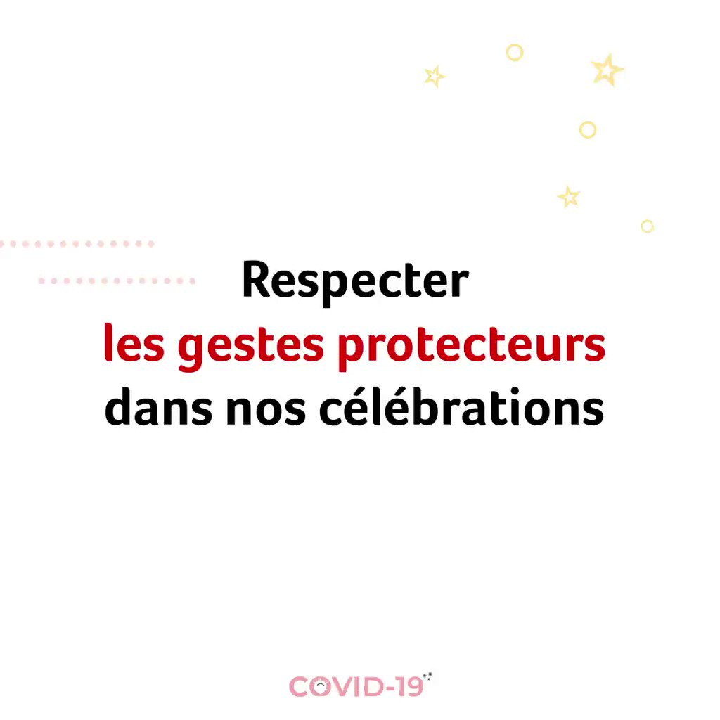 Image for the Tweet beginning: Respect des distances, port du