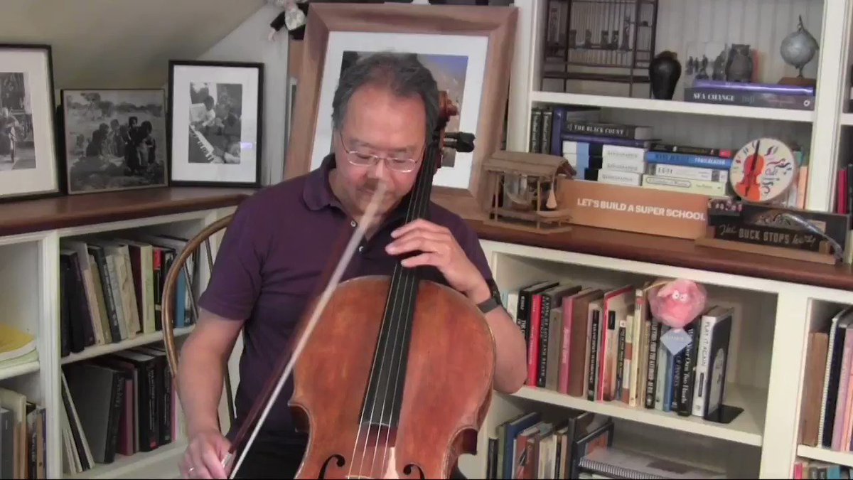 Tomorrow I'll be playing Bach's complete cello suites live as a memorial to those we lost and a tribute to the resilience of our communities. I hope you'll join me. Until then, this is the Prelude from Suite No. 2. #songsofcomfort https://t.co/0YfJuoZXSf https://t.co/PpNUaPrDB1
